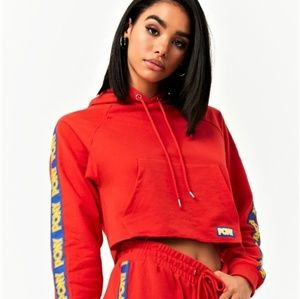 5/$25 Forever 21  Pony  Cropped Hooded Sweatshirt